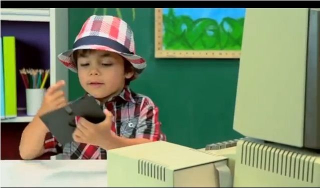Watching kids trying to figure out how to use an old Apple II is totally hilarious