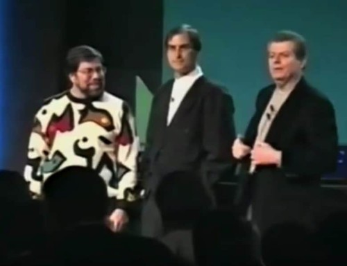 Today in Apple history: Woz and Jobs reunite onstage