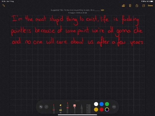 Notes app censors handwritten curse words in iOS 13