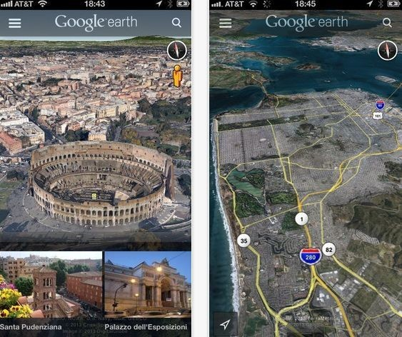 Google Earth For iOS Updated With Street View And Improved Interface
