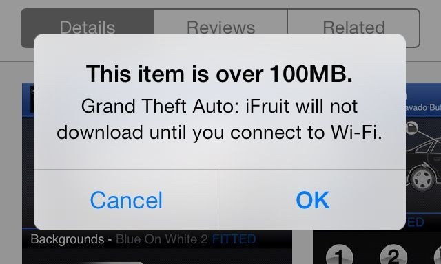 iOS7 Cellular App Download Cap Raised To 100MB