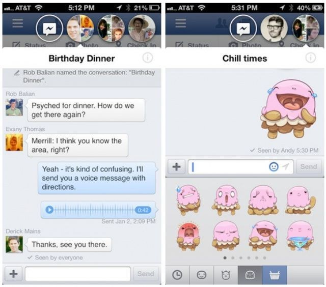 Facebook 6.0 Now In App Store With Chat Heads, Stickers, Redesigned iPad News Feed