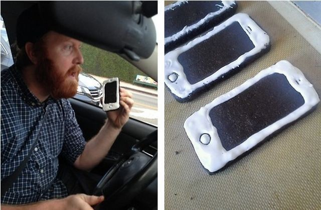 This Man Was Pulled Over For Talking On An iPhone-Shaped Cookie