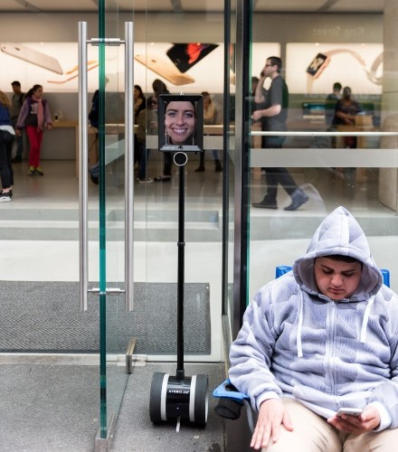 A savvy Apple fan has sent a robot to queue for her iPhone 6s