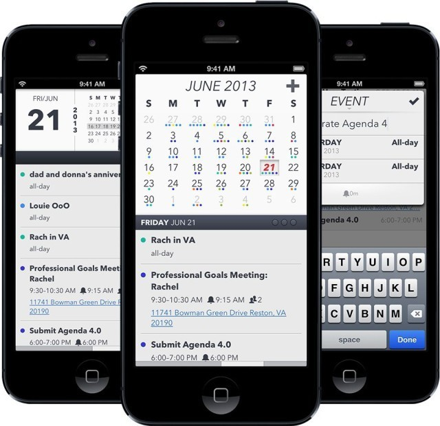 Popular iOS Calendar App Agenda Hits Version 4.0 With New Design