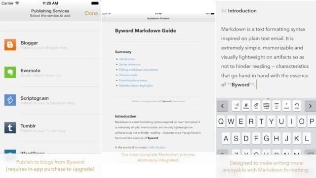 Byword For iOS Now With Absurdly Comprehensive Keyboard Shortcuts