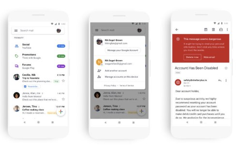 Gmail is getting a big redesign on Android and iOS