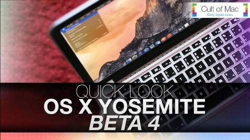 See OS X Yosemite's latest tweaks in action in beta 4