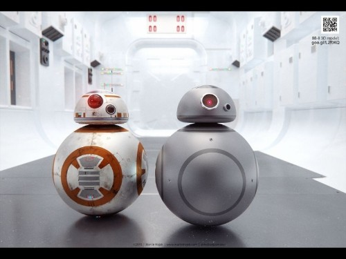 This is what new Star Wars droid BB-8 would look like in space gray
