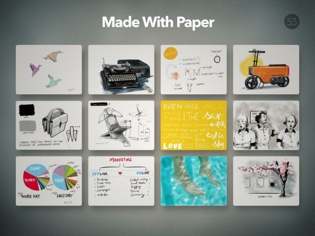 FiftyThree's Paper For iPad Updated With Pinch-To-Zoom, 'Made With Paper' Gallery