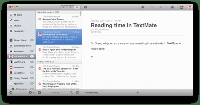 Popular RSS App Reeder Announces Upcoming Support For Google Reader Alternative Feedbin