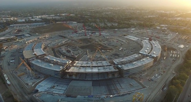Steve Jobs narrates this awesome drone footage of Apple's 'spaceship'
