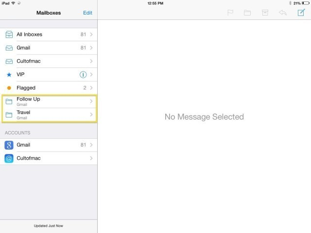 Add Your Own Mailboxes To iOS 7 Mail App [iOS Tips]