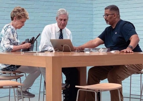 Mueller spotted at Genius Bar appointment in Washington D.C.