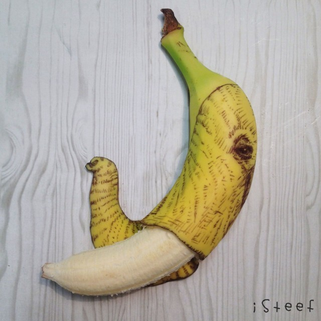 Fruitdoodles artist finds banana work has mass a-peel