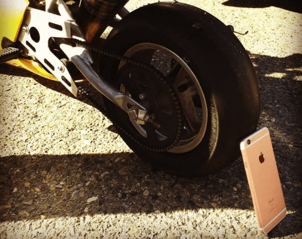 iPhone 6s undergoes crazy stress test under motorcycle wheel