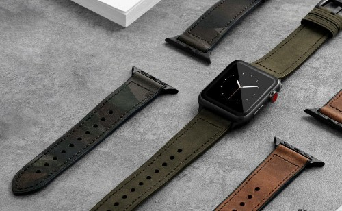 These stylish Apple Watch bands offer real leather at a steal