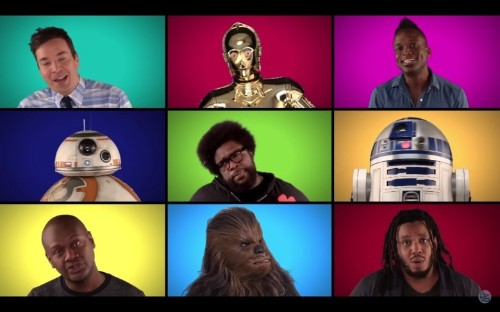 Force Awakens cast gives us all a nerdgasm with a cappella version of Star Wars