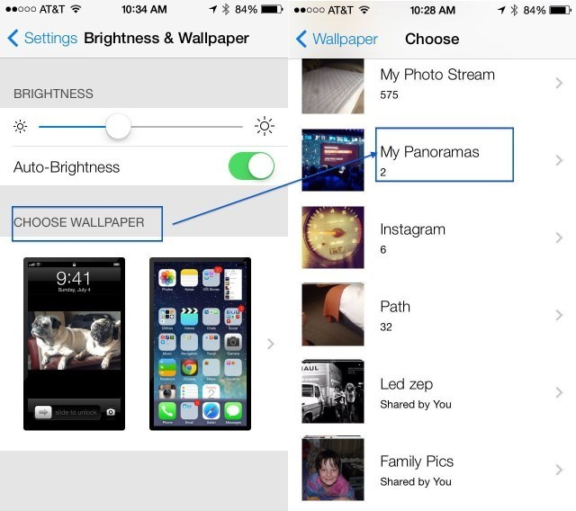 Use A Panorama As Your Lock Screen, Wallpaper, Or Both In iOS 7 Beta [iOS Tips]