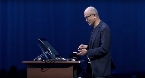 Watch Microsoft CEO's demo with 'iPhone Pro'