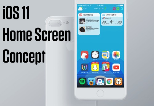 iOS 11 concept supercharges the Home screen