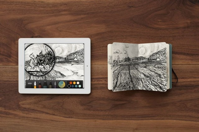 Paper Partners With Moleskine To Bring Your iPad Drawings To Life