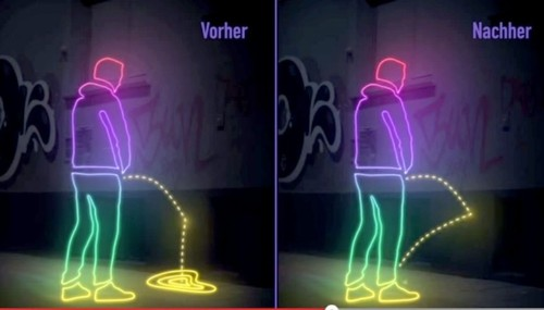 German neighborhood warns public urinators 'it's peeback time'