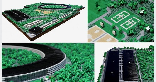 Apple Park gets bricked in amazing LEGO replica