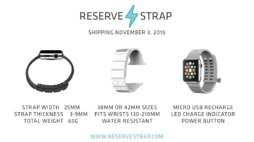 Hideous Apple Watch power strap will almost triple battery life