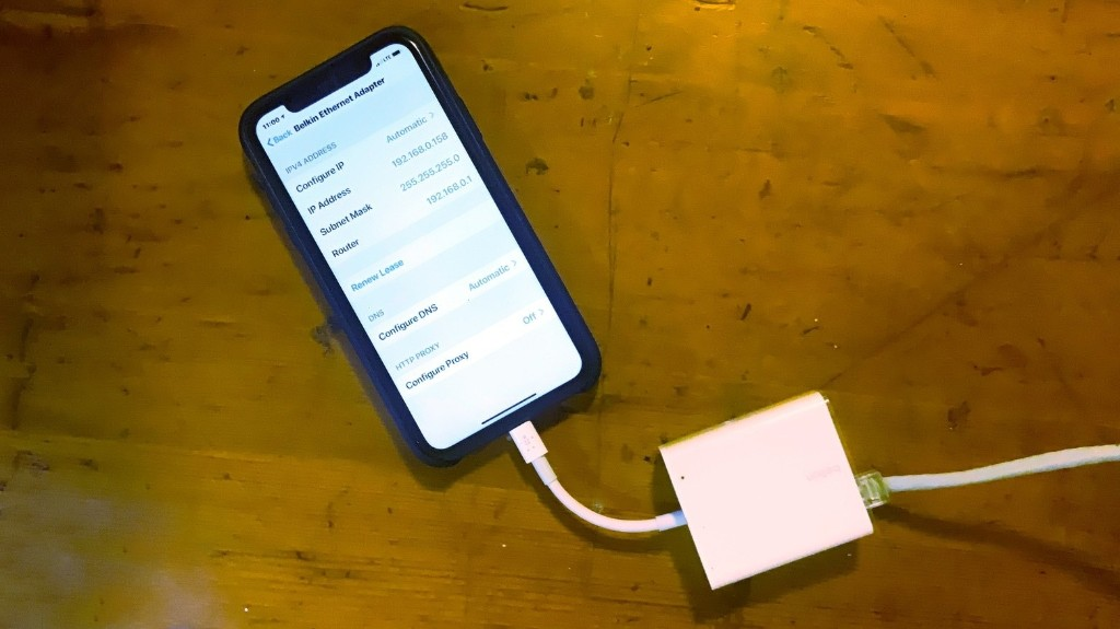 How to plug an Ethernet cable into your iPhone | Cult of Mac