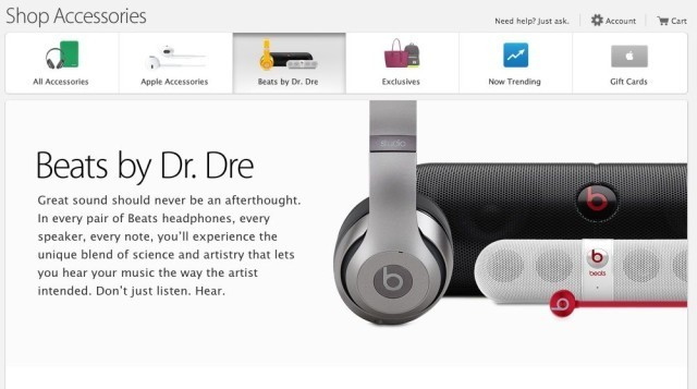 Apple's online store gets new Beats by Dre section