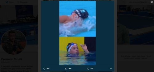 Swimmer breaks a record with AirPods in her ears