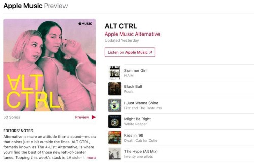Apple continues its rebranding of Apple Music playlists