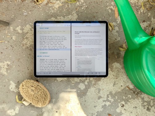 Ulysses adds iPad full-screen view, and keyword manager
