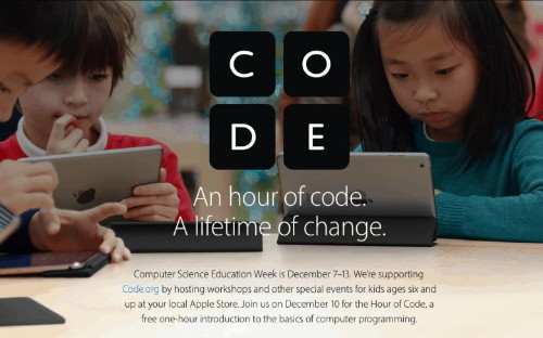 Apple offers kids free 'Hour of Code' programming classes