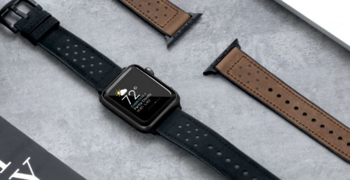 This hybrid Apple Watch band makes leather fit for everything