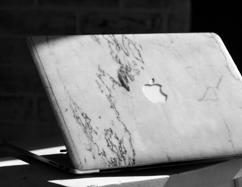 Marble MacBook case makes laptop a stone-cold knockout