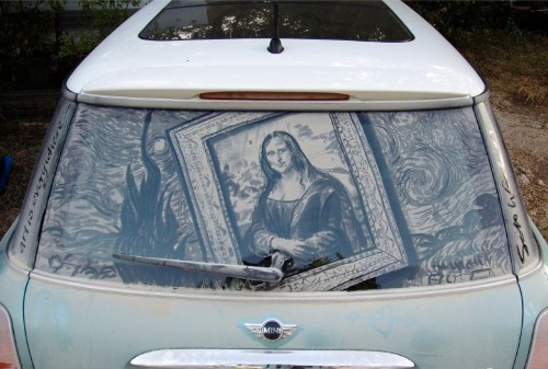 Dirty car artist leaves masterpieces in the dust
