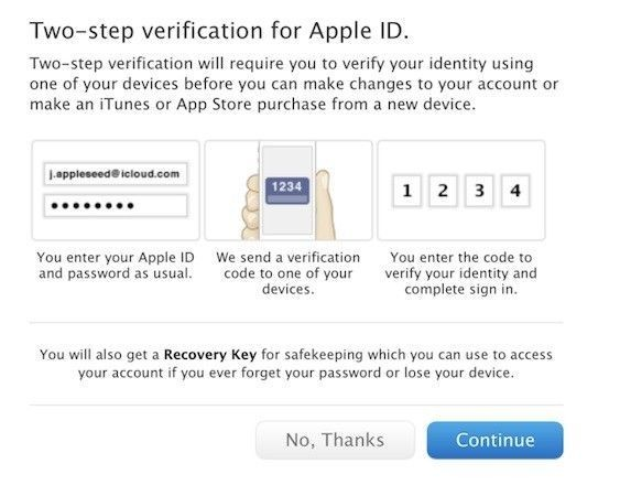 Apple Two-Step Verification Continues Its International Rollout