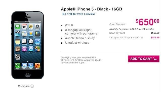 Apple And T-Mobile Begin Taking Pre-Orders For iPhone 5