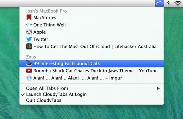 CloudyTabs Sits In Your Menubar, Works With Any Browser