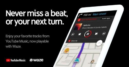 Waze embraces YouTube Music for a happier commute
