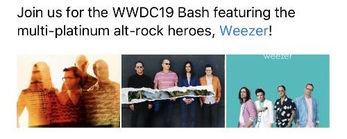 Weezer headlines Apple's WWDC19 Bash