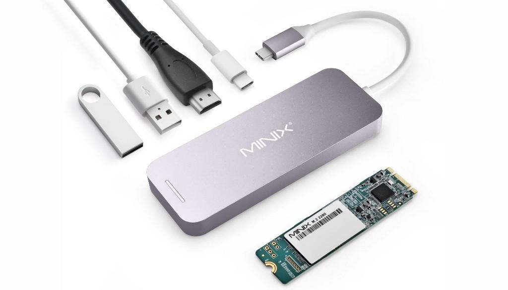 Tiny USB-C hub doubles as a hard drive   Cult of Mac