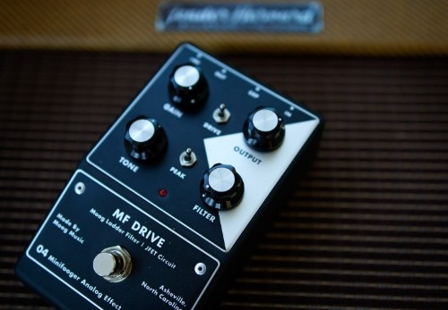 Drive your guitar to new places with this mighty Moog effects pedal
