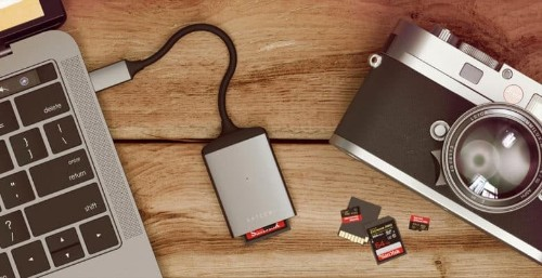 This SD card reader will satisfy the Apple user's need for speed
