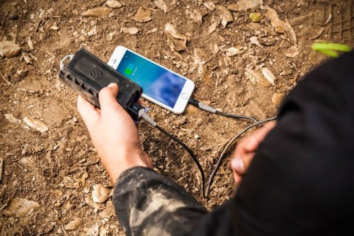 Outdoor battery charger saves you from having to completely rough it