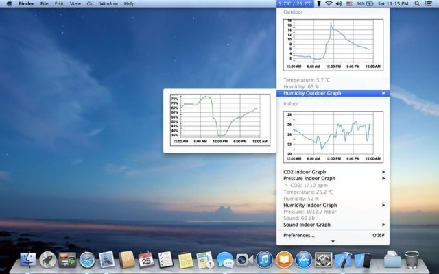 AtmoBar, Track Your NetAtmo Weather Station From Your Mac's Menubar