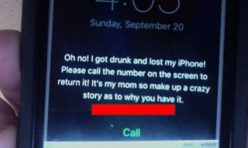 Brilliant lock screen shows how to recover your lost iPhone like a boss