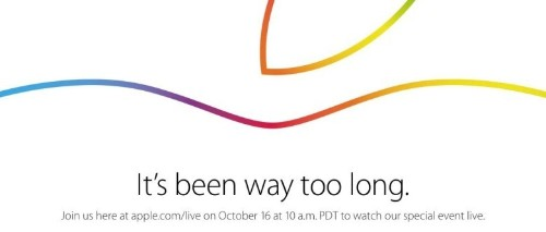 Apple will live stream its special event on October 16